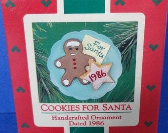 1986 Cookies For Santa Hallmark Retired Ornament