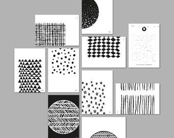 Postcard set / Monochrome postcard