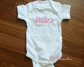 Monogrammed Baby Bodysuit, Baby One Piece, Mongram Baby Bodysuit