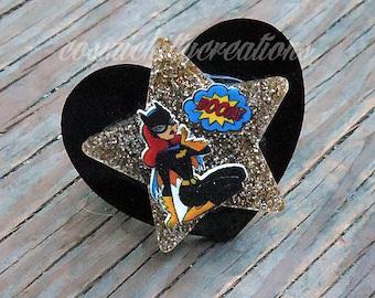 Heart and Star superhero ring