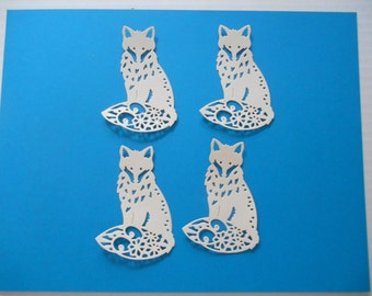 4 die cut Fox's