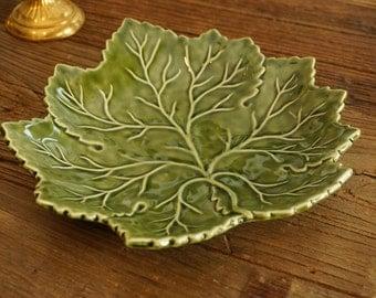 Vintage Olfaire Leaf shape Serving Plate, Dish, Tray.