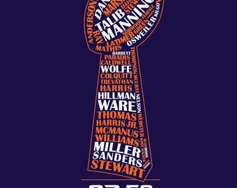 Denver Broncos Super Bowl 50 Team Typography T-shirt