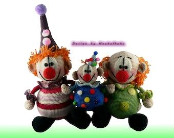 Die Clownis -- Häkelanleitung by Haekelkeks