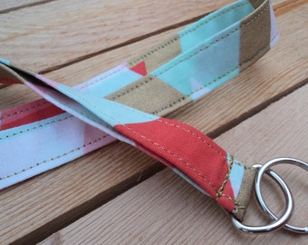 Abstract Pastel and Gold 3/4in Lanyard