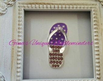 Purple Flip Flop Needle Minder