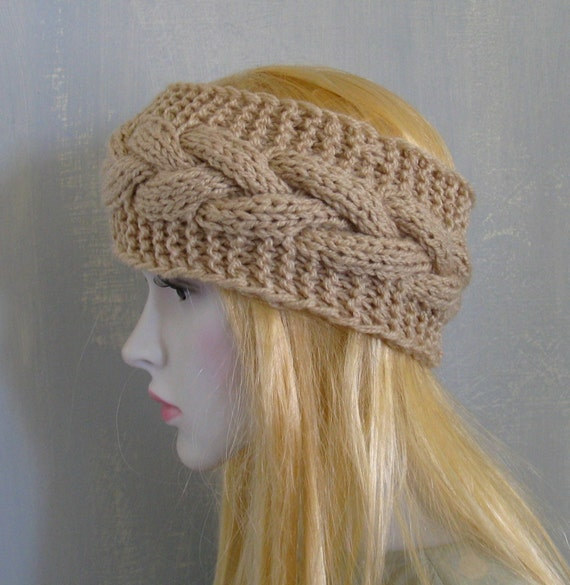 Mens Knit Headband Wide Hair Accessory Winter by vintachi on Etsy