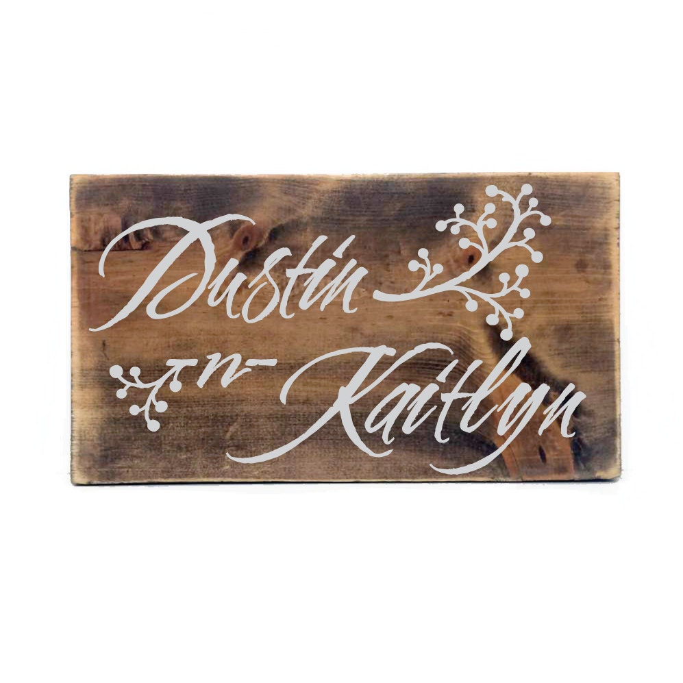 Personalized home decor rustic personalized wood sign for Home decor names
