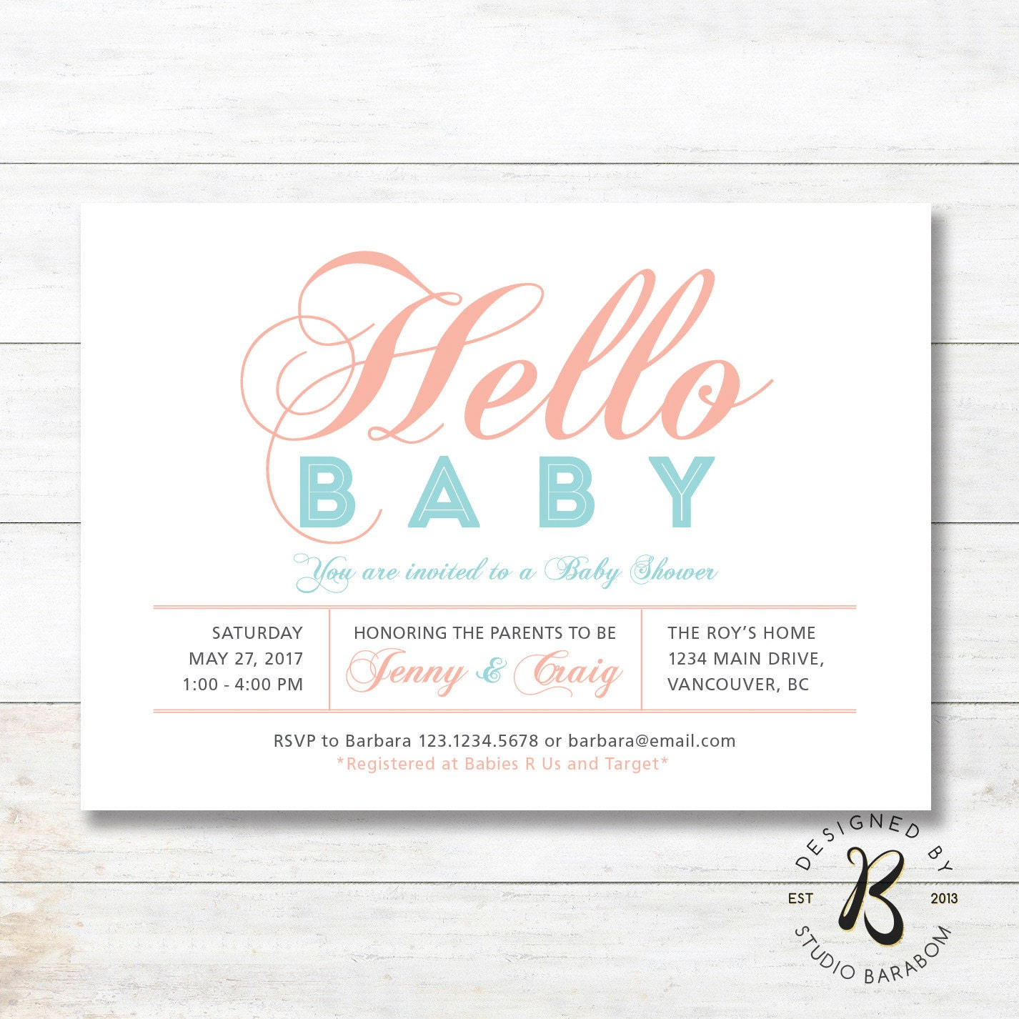 unique baby shower invitation couples coed baby girl shower