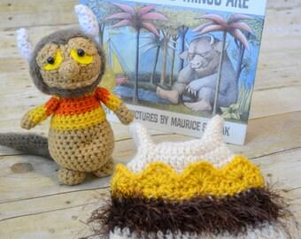 Crochet Wild Things Set/Hat & Monster Photo Prop/Baby Gift Set