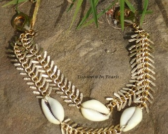 Prosperous: Cowrie Shell and Chain Jean Jewelry - Jean Chain