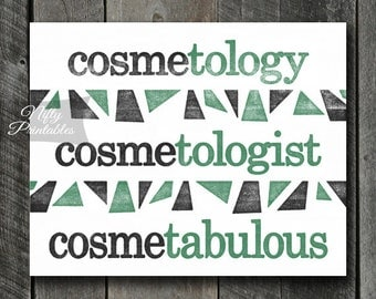 Cosmetologist Print - INSTANT DOWNLOAD Cosmetology Art - Cosmetologist Poster - Funny Cosmetologist Gifts - Cosmetology Decor Wall Art