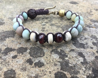 Yoga bracelet, meditation bracelet, gemstone bracelet, healing bracelet, beaded bracelet.