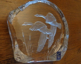 SALE!  Dartington Crystal Paperweight, Sculpture
