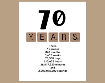 70th Birthday Card, Milestone Birthday Card, The Big 70, 70 Birthday, 1947 Birthday Card