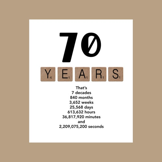 70th Birthday Card Milestone Birthday Card The Big 70 70