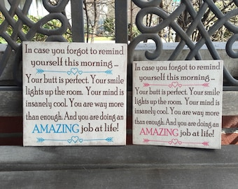 Inspirational sign, In Case You Forgot To Remind Yourself Today... Wall Plaque Women, Moms, Sisters, Friends, Handcrafted CANVAS