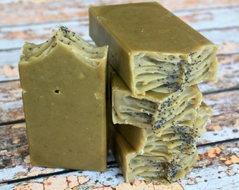 Rustic Avocado Soap / Cold Process All Natural Soap / Vegan Soap / Artisan Soap