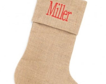 Monogrammed Wholesale Boutique Burlap Stocking