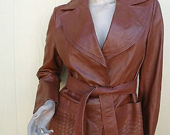 Spring/Summer Clearance Sale // Vintage 70s WILSONS Leather Jacket  // Size Medium // Great Deal