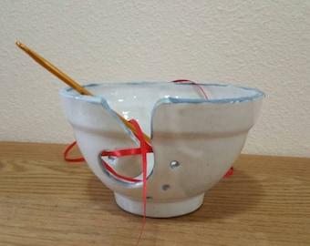 Small White Yarn Bowl