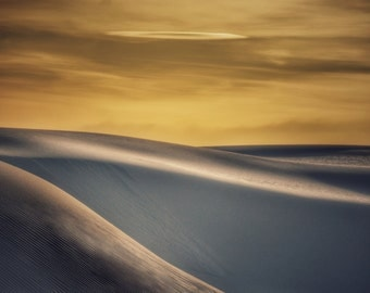 Sunset, White Sands National Park, Sand Dunes, Sand, New Mexico, Flowing