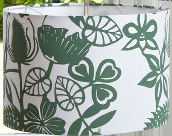 40cm Wildflowers in green - Large Lampshade