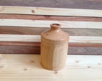 Wood canister handcrafted from Cherry Wood-15CHC001