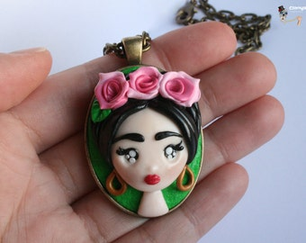 Cameo Necklace Frida Kahlo.
