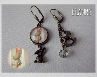 "Earrings ""cuddly rabbit ''"