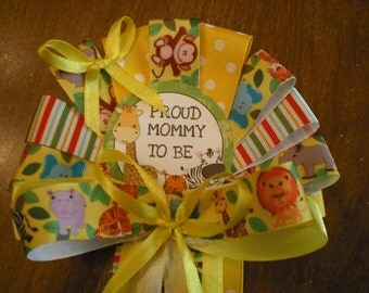 Baby shower jungle safari Mommy To Be Corsage