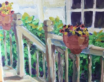 "Original Painting, ""From My Window"""