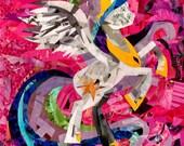 Princess Celestia, My Little Pony Print, Celestia Art, MLP Art, Pink, Unicorn Print, Girl Wall Decor, Little Girl Gift, Art and Collectibles