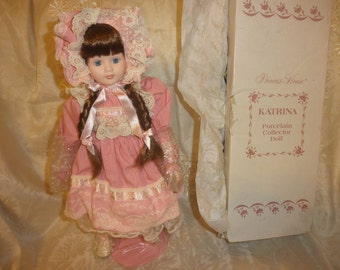 "Princess House Porcelain Doll ""Katrina""with Certificate of Authenticity"