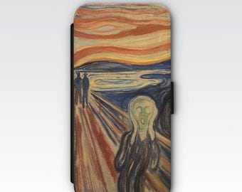 Wallet Case for iPhone 8 Plus, iPhone 8, iPhone 7 Plus, iPhone 7, iPhone 6, iPhone 6s, iPhone 5/5s  - The Scream by Edvard Munch