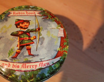 Vintage Robin Hood and His Merry Men Collectible Tin