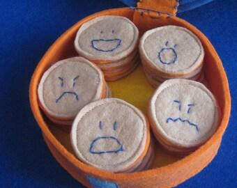 MEMORY of EMOTIONS felt game handmade