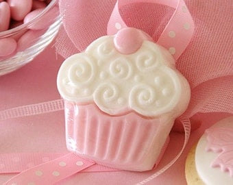 Cup Cake Soap, Cup Cake Party Favor Soap, Small Soap, Guest Soap, Wedding Favor Soap, birthday party favor soap