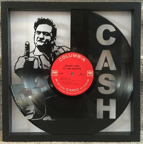 Johnny Cash At San Quentin cut vinyl LP record
