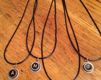Antique Typewriter Key Necklaces