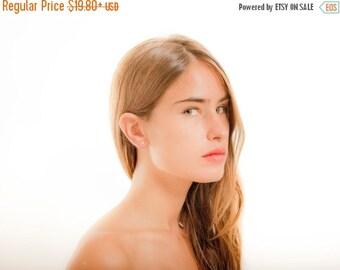 SUMMER SALE Minimalist triangle post Earrings ,minimalist gold earrings , urban post earrings