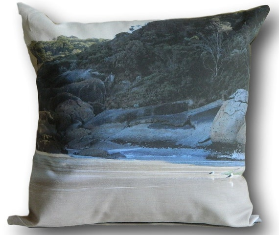 Beach Scene Throw Pillows : AUSTRALIAN BEACH SCENE Cushion Cover decorative pillow