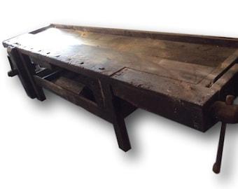 Antique 10' Workbench