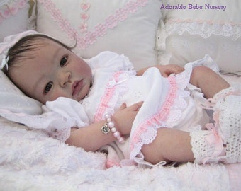 Reborn Peach Vinyl Doll Kit Baby SHYANN Aleina Peterson NOT Completed Doll 3039