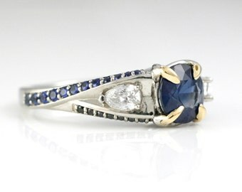 Midnight Blues Sapphire Twists in 14k and 18k gold - Special Edition