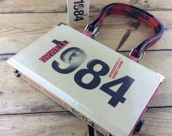 "Nineteen Eighty-Four Handbag, George Orwell, 1984 Handbag, 1984 Purse, Doublethink, Newspeak, Thoughtcrime, ""Big Brother is watching YOU!"""