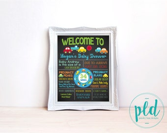Cars (Transportation) Baby Shower Chalkboard Print, Cars Baby Shower Poster Cars Baby Shower, Transportation Baby Shower, Cars and Trucks