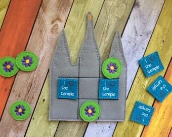 LDS Salt Lake Temple Tic Tac Toe Game