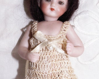 French Mignonette Doll Chemi Pantalettes Lingerie for 4 to 5 Inch All Bisque Dolls