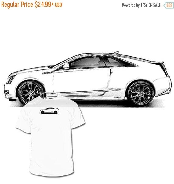Cadillac Cts Sales: 40% OFF Sale Cadillac CTS Drawing T Shirt Elr Xts Ats By Drawinx